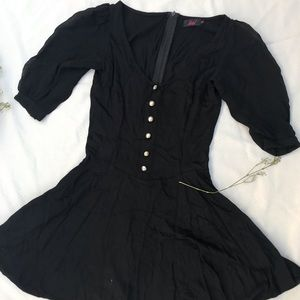 Motel Dress with Puff sleeves